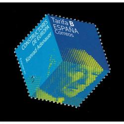 2021 Spagna Konrad Adenauer francobollo esagonale