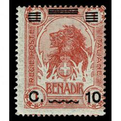 1926 Somalia 10cent su 1 anna Sas.75 leone nuovo MNH/**