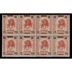 1926 Somalia 10cent su 1 anna Sas.75 Blocco da 8 nuovo MNH/**