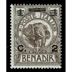 1926 Somalia 2cent su 1 besa Sas.73 elefante nuovo MNH/**