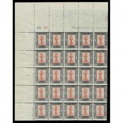 1921 Libia 10cent Sas.24 Pittorica blocco da 25 numerali MNH/**