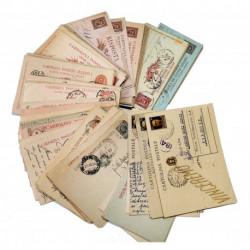 Collezione Cartoline Postali del Regno 123 pezzi differenti viaggiati