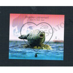 2015 Estonia protezione Mar Baltico francobollo cuore MNH/**