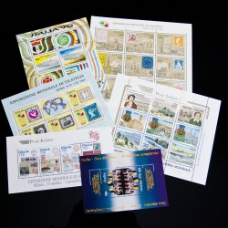 Lotto 6 foglietti Repubblica nuovi sottofacciale