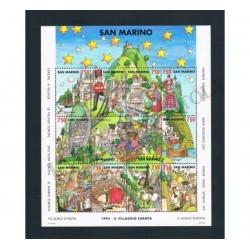 1993 San Marino Foglietto Villaggio Europa MNH/**