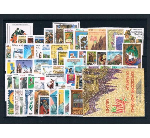 1996 Repubblica Italiana - Annata completa MNH/** 62val + Libretto