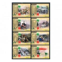 2011 Protagonisti Unità d'Italia serie di 8 foglietti MNH/**