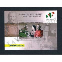 2011 Cittadinanza sammarinese a Giuseppe Garibaldi foglietto MNH/**
