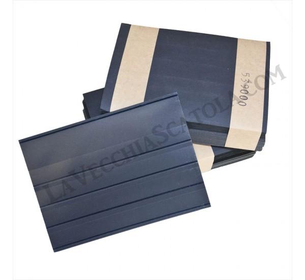 25 Cartoncini 4 listelli con pellicola protettiva 158x110
