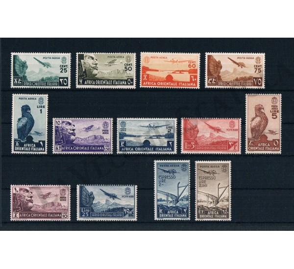 1938 A.O.I. Posta Aerea serie completa 13v MNH/** - LUSSO