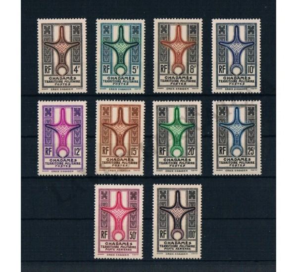 1949 Ghadamès serie completa + PA MNH/**