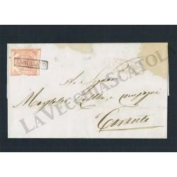 1858 Lettera da Lecce per Taranto 2 Grana II Tav.
