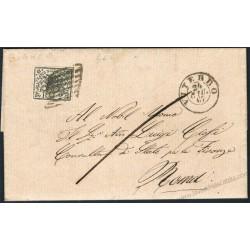 1867 Bellissima lettera da Viterbo a Roma 2 Baj Bianco