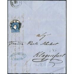 Lettera da Verona per Klagenfurt con 15 soldi II tipo