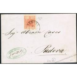 Lettera da Verona a Padova con 15c. II tipo firmata Colla