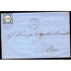 1861 Lettera da Napoli per Bari 2 grana Prov. Napoletane
