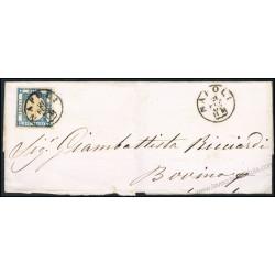 1862 Frontespizio da Napoli per Bovino 2 grana Prov. Napoletane