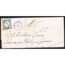 1862 Lettera da Napoli succursale a Chiaia (7 punti) per Capaccio/Eboli
