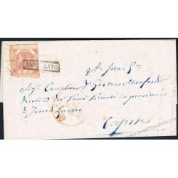 1859 Lettera con testo da Lecce a Caserta 2 Grana I°Tav