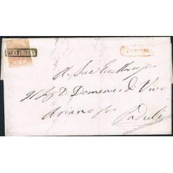 1859 Lettera con testo da Bovino a Paduli via Ariano I°Tav No Filigrana
