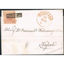 1859 Lettera da Foggia a Napoli 2 Grana I° tav