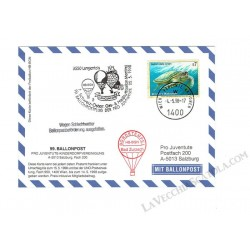 1998 Ballonpost n.99 Mongolfiera HB-BGN da Langentois
