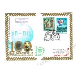 1998 Ballonpost n.100 Mongolfiera OE-MZL da Vocklabruck