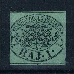 1852 ASI Stato Pontificio 1 Baj Sas.2B MH/*