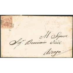 1859 Piego da Chieti ad Aversa 2 grana III tav