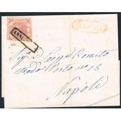1859 Piego da Trani a Napoli 2 grana I° tav n.5d