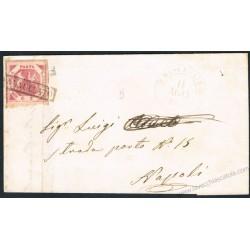 1860 Lettera da Bisceglie 2grana III° tav Carminio n.7d
