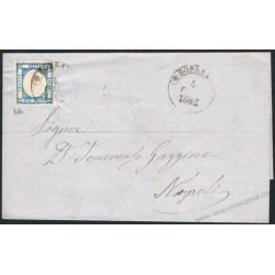 1862 Piego da Rossano a Napoli 2gr Province Napoletane