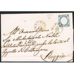 1862 Piego da Napoli a Reggio Calabria 2gr Province Napoletane