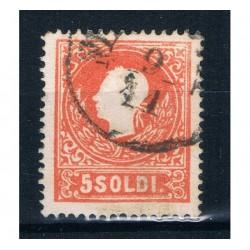 1859 ASI Lombardo Veneto 5 Soldi II° tipo Sas.30