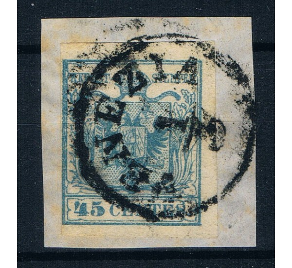 ASI Lombardo Veneto 45 cent III° tipo Sas.12 Venezia