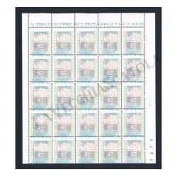 2002 Varietà Alti Valori 2,17€ blocco da 25