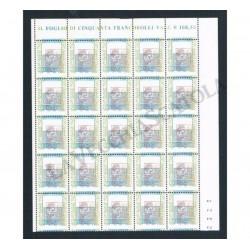 2002 Varietà Alti Valori 2,17€ blocco da 25 - doppio fuori registro