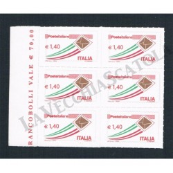 2009 Varietà Letterina 1,4€ - fustellatura spostata