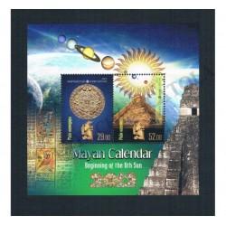 2012 Kyrgystan calendario Maya foglietto MNH/**