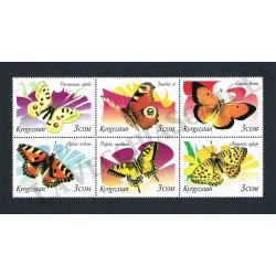 2000 Kyrgystan Farfalle blocco MNH/**