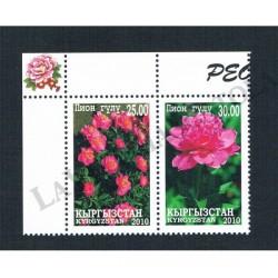 2012 Kyrgystan fiori: la Peonia MNH/**