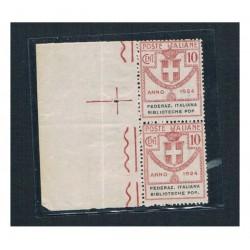 1924 Parastatali 10c Federaz. Italiana Biblioteche Pop. MMH/**