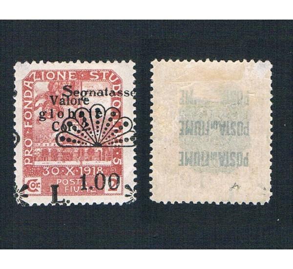 1921 Segnatasse Fiume Varietà stampa spostata MH/**