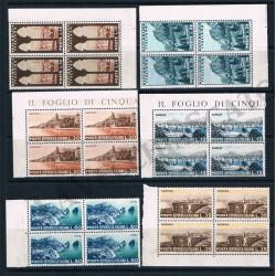 1953 - Serie Turistica - Quartine MNH/**