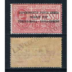 1917 P.A. Esperimento posta aerea Torino Roma MNH/**