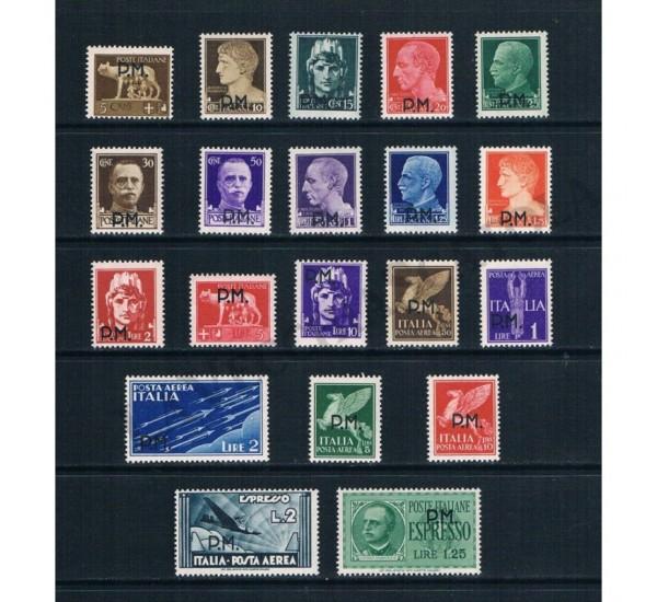 1942 Posta Militare serie completa 20val MNH/**