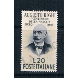 1950 - Centenario di Augusto Righi MNH/**