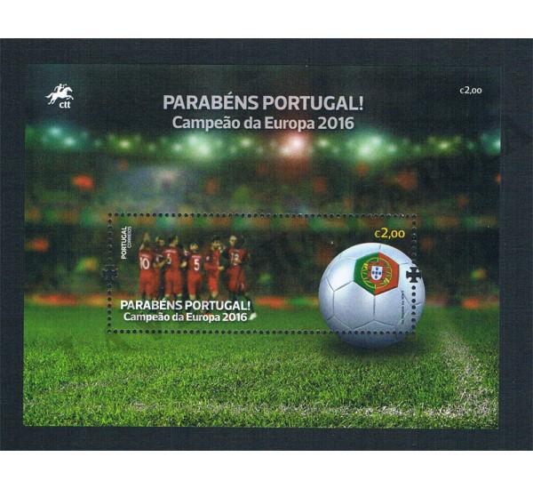 2016 Portogallo foglietto vittoria Europei UEFA 2016