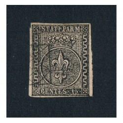 1852 ASI Parma 15 cent rosa chiaro Sas.3ab Greca larga