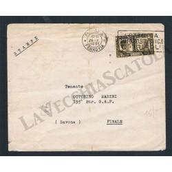 10c Fratellanza isolato su lettera tariffa stampe da Roma